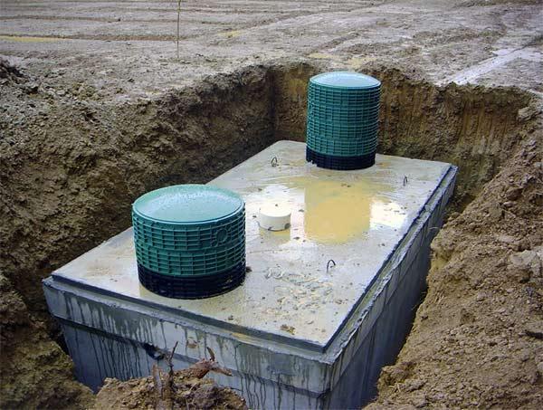 Септик из бетонных колец своими руками: схема