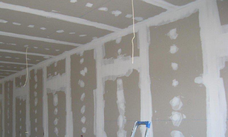 Сколько стоит монтаж гипсокартона на стены